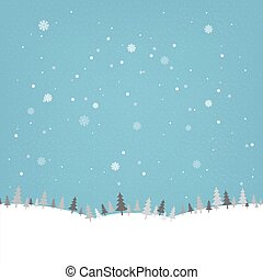 Vintage Winter Poster With Gradient Mesh, Vector...
