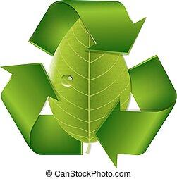 リサイクルしなさい, シンボル, 葉