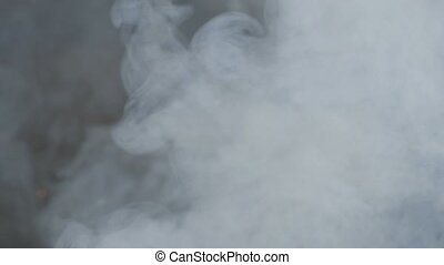 pure white smoke swirl slow motion video - white smoke on a...