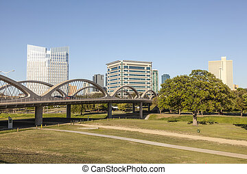 West 7th Street Bridge in Fort Worth, TX, USA - FORT WORTH,...