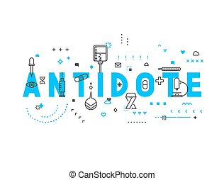 Medicine concept antidote. Creative design elements for...
