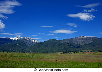 Bitterroot Mountains, Montana - Mountains provide a scenic...