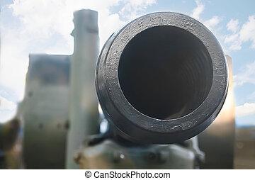 artillería, pedazo,