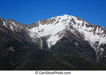 Boulder Mountains - Idaho - Snow-capped Boulder Mountains...