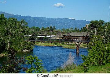 Clark Fork River, Montana - Bridge spanning the Clark Fork...