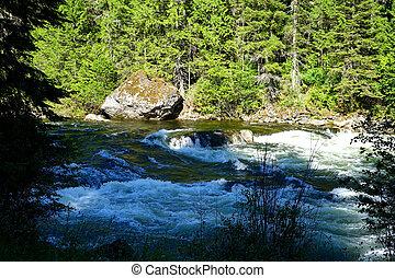 Lochsa River, Idaho - The Lochsa River flows through the...