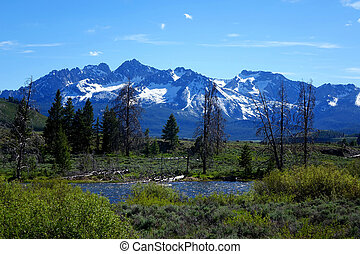 Sawtooth Mountains - Idaho - Rugged, granite Sawtooth...