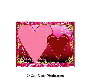Red Pink Template - Vector Illustration. A template...