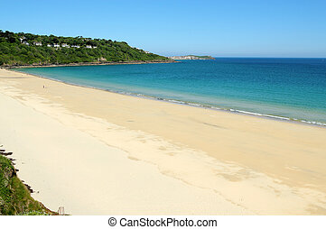 Carbis bay beach in Cornwall UK.