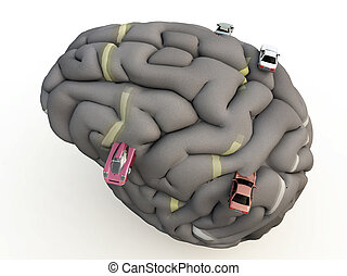 Car Brain - Conceptual image about having an obsession with...