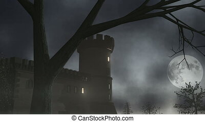 Haunted House 1 CGI-HD - Spooky house. Animation.