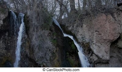 Rifle Falls Colorado - Cascading triple waterfall Rifle...