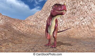 Dinosaur - 3D CG rendering a dinosaur