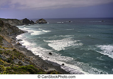 Big Sur California - Gloomy and Stormy weather approaching...