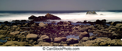Time Lapse Asilomar State Marine Reserve - Soft focus slow...