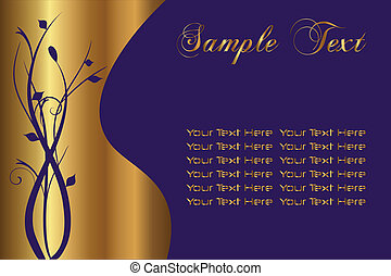 Gold Sample Text - Add your own text to this editable file