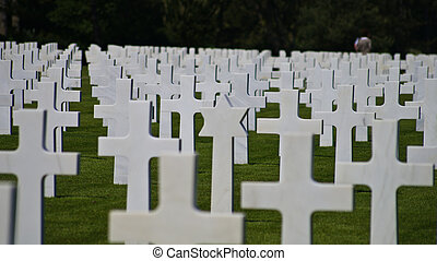 American Cemetery at Normandy in Colleville-sur-Mer, France....