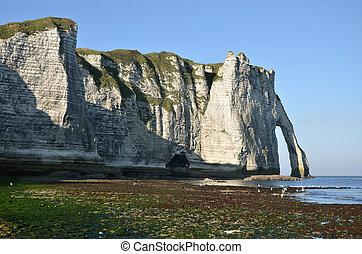 Famous cliffs of Etretat in France - Famous cliffs of...