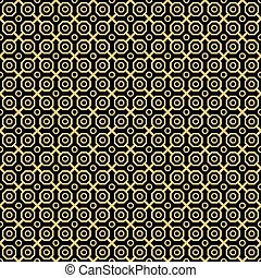 Seamless Abstract Vector Pattern With Hexagons - Geometric...