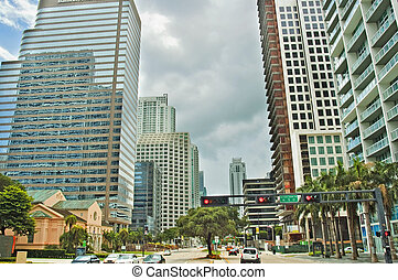 Downtown Miami, Florida, USA - A view of Downtown Miami, in...