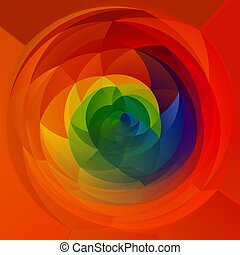 abstract modern artistic rounded shapes background - full...