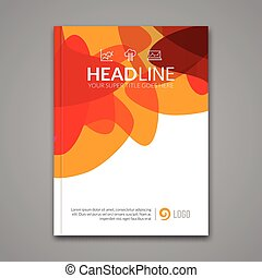 Vector Poster Flyer Template. Abstract colorful Background for Business Flyers, Posters and Placards. Brochure tamplate