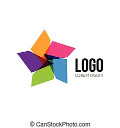 Vector Star logo template layout. Abstract colorful star creative sign or icon. Design element.