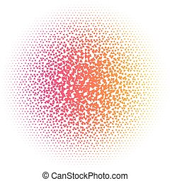 Abstract colorful halftone dots triangle vector illustration