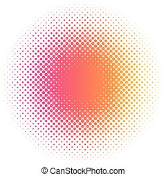 Abstract colorful halftone dots circle round vector illustration