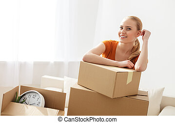Woman moving into her new home - Big dreams for her new home...