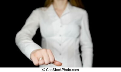 Businesswoman Showing Thumbs Down - Businesswoman showing...