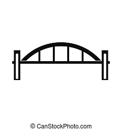 Bridge icon, simple style