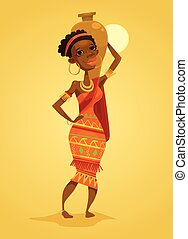 African black woman. Native african