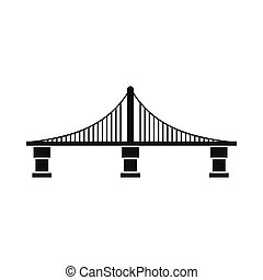 Bridge icon, simple style - Bridge icon in simple style...