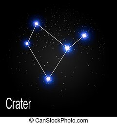 Crater Constellation with Beautiful Bright Stars on the...