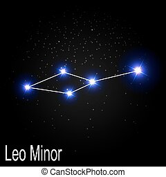 Leo Minor Constellation with Beautiful Bright Stars on the...
