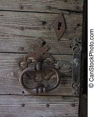 Knock, door,  - Valley of Lot in Midi-Pyrenees