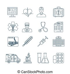 Medical Thin Line Icons - Medical And Healthcare Thin Line...
