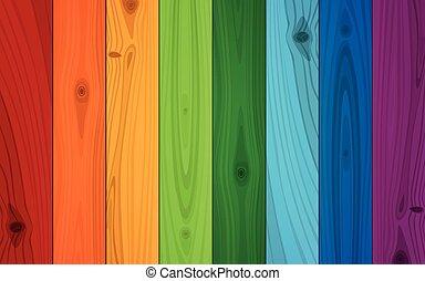 Multicolored Boards Background