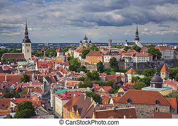 Tallinn. - Aerial image of Old Town Tallinn in Estonia.