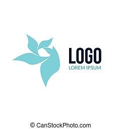 Abstract vector beauty spa salon logo. Abstract colorful...