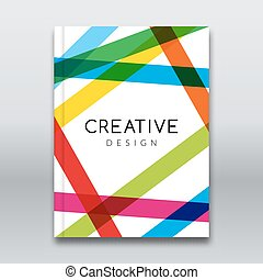 Vector Poster Flyer Template. Abstract colorful stripes Background for Business Flyers, Posters and Placards. Brochure tamplate.