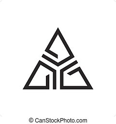 Delta Stylized - Abstract delta stylized sign line drawing...