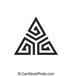 Delta - Abstract line drawing delta sign vector illustration...