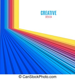 Abstract vector straight lines background. Colorful modern design background
