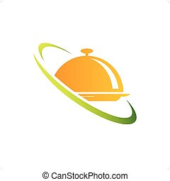 Catering - Food gold cover catering icon vector illustration...