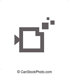 Digital camera icon on white background. Vector...