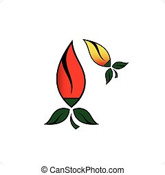 Chilly Pepper - Hot chilli pepper vector set isolated on...