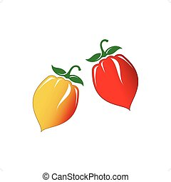 Chili Peppers - Hot chilli pepper vector set isolated on...
