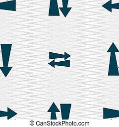 Padrão, sinal, seamless, dois, vetorial, maneira, tráfego,...